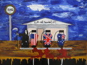 Iraq Painting Prints - Oil Print by Antonio Raul