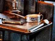 Machinists Photos - Oil Can and Wrench by Susan Savad