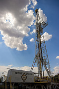 Energy Work Prints - Oil Derrick I Print by Ricky Barnard