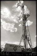 Energy Work Prints - Oil Derrick II Print by Ricky Barnard