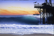 Santa Barbara Paintings - Oil Piers by Tim Laski