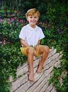 Lisa  Ober - Oil Portrait of Boy