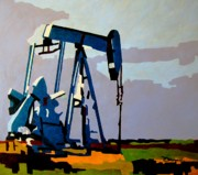 Austin Mixed Media Prints - Oil pump Print by Diana Moya
