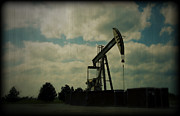 Gasoline Framed Prints - Oil Pumpjack Holga Framed Print by Ricky Barnard
