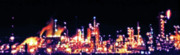 Workplace Digital Art Framed Prints - Oil Refinery at Night 2 Framed Print by Steve Ohlsen