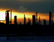 Emit Prints - Oil Refinery at Sunset Print by Jack Dagley