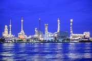 Production Photo Originals - Oil Refinery Factory by Anek Suwannaphoom