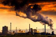 Evenings Photo Prints - Oil Refinery Print by John Short
