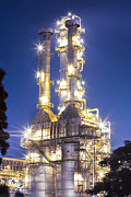 Heavy Metal  Photos - Oil Refinery Plant by Anek Suwannaphoom
