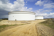 Esso Prints - Oil Refinery Storage Tanks Print by Paul Rapson
