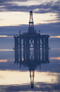 Offshore Drilling Framed Prints - Oil Rig Anchored In The Cromarty Firth Framed Print by Iain  Sarjeant