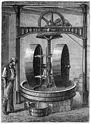 Man Machine Prints - Oil Seed Grinding, 19th Century Print by Cci Archives