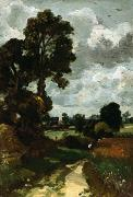 Oil Prints - Oil Sketch of Stoke-by-Nayland Print by John Constable