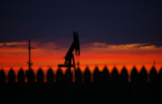 Oilfield Sunset Print by Deon Grandon