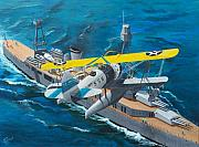 Plane Paintings - OJ-2 Observation Plane USN by Gene Ritchhart
