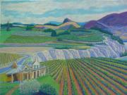 Wines Pastels - Okanagan Valley by Rae  Smith PSC