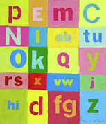 Baby Room Posters - Okay Abcs Poster by Laurie Breen