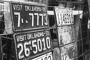 License Plates Prints - Oklahoma 1955 Print by Toni Hopper