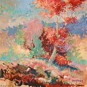 Mjonesart Prints - Oklahoma Autumn Print by Micheal Jones