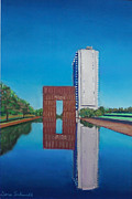 Reflecting Water Pastels - Oklahoma City Memorial by Dana Schmidt