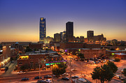 Highrises Art - Oklahoma City Nights by Ricky Barnard