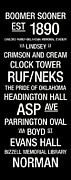 Oklahoma Posters - Oklahoma College Town Wall ARt Poster by Replay Photos