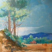 Bales Painting Originals - Oklahoma Gold by Micheal Jones