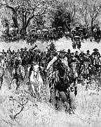 Indian Territory Prints - Oklahoma Land Rush, 1891 Print by Granger
