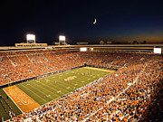 Athletic Sports Art Posters - Oklahoma State Boone Pickens Stadium Under the Lights Poster by Oklahoma State University