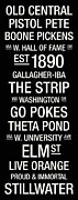 New York Signs Posters - Oklahoma State College Town Wall Art Poster by Replay Photos