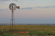 Southwest Oklahoma Framed Prints - Oklahoma Windmill Framed Print by Tony Grider