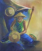 Baskets Drawings - Okpa Nkete by Eziagulu Chukwunonso
