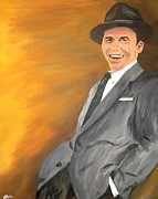 Frank Sinatra Painting Prints - ol Blue Eyes Print by Steven Dopka