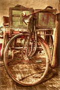 Basket Prints - Ol Rusty Antique Print by Debra and Dave Vanderlaan