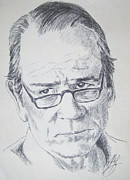 Tommy Lee Jones Drawings Acrylic Prints - Ol Tommy Lee Acrylic Print by Rich Kelly