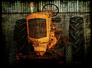Old Tractors Photos - Ol Yeller by Ernie Echols