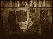 Crank Prints - Ol Yeller in Sepia Print by Ernie Echols