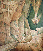 Bolivian Paintings - OL1963NY003 Mitoformas  49x60.1 by Alfredo Da Silva