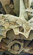 Fossilized Art - OL1965AR001BA Cosmic Sensation 27.6 x 47.3 by Alfredo Da Silva