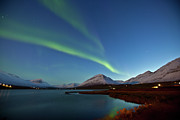 Illuminated Tapestries Textiles - Olafsfjordur Lake by Iceland