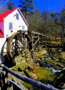 Old Mills Photo Prints - Old 1886 Mill Print by Karen Wiles