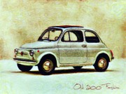 Fiat 500 Posters - Old 500 Fashion Poster by Radu Aldea