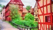 European City Digital Art - Old Aarhus by Jeff Kolker