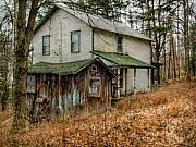 Abandoned Digital Art - Old Abandoned and Forgotten Farmhouse by Randy Steele