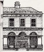 Theatre Drawings - Old Abbey Theatre 1 Dublin by Alan Hogan