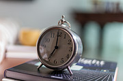 Alarm Clock Photos - Old Alarm Clock by Julio Lopez Saguar