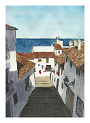 Espana Painting Posters - Old Altea Poster by Rod Jones