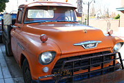 Old Chevrolet Truck Posters - Old American Chevy Chevrolet Truck . 7D10669 Poster by Wingsdomain Art and Photography