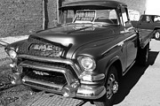 American Automobiles Metal Prints - Old American GMC Truck . 7D10665  . bw Metal Print by Wingsdomain Art and Photography