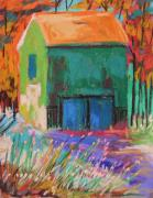 Old Barn Drawing Pastels Prints - Old and Green  Print by John  Williams